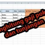 Rumus Excel Gaji Pokok Dan Tunjangan