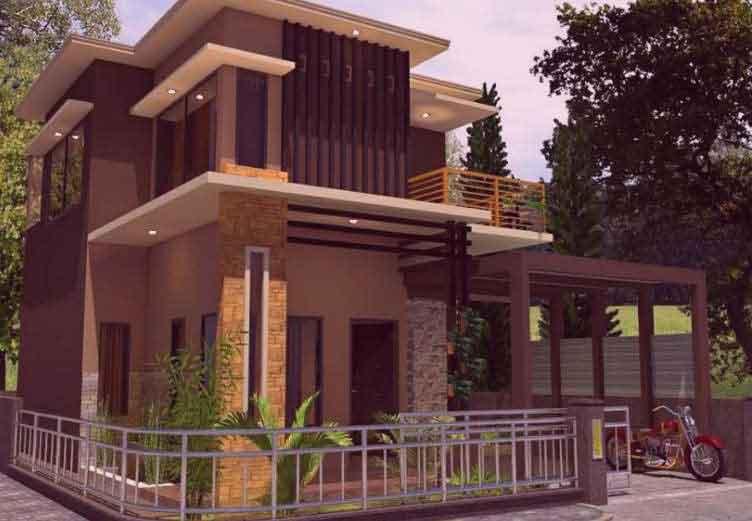 Rumah Batu Alam 2 Lantai